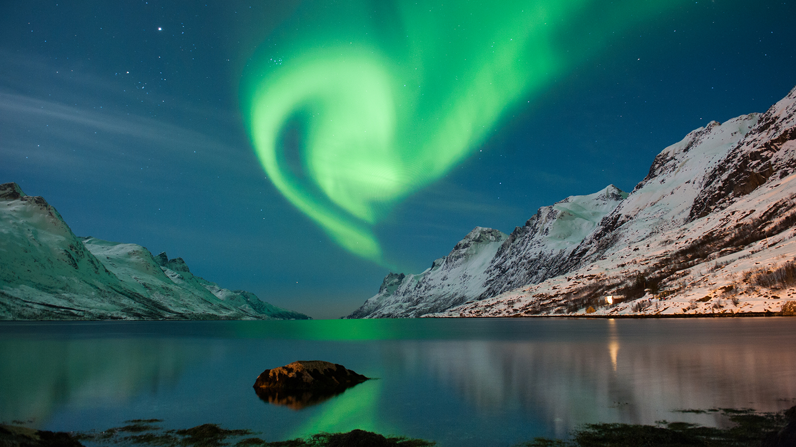 The polar lights in Norway; Shutterstock ID 134218658; PO: Kids Website for March; Job: Hillary Leo; Client: KIDS WEB